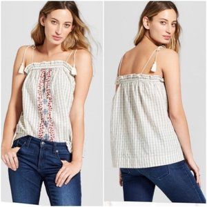Universal Thread Flowy Embroidered Tank Top S
